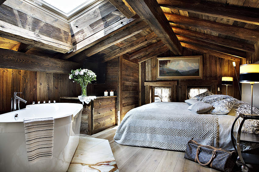 une chambre dans un chalet fais toi la belle. Black Bedroom Furniture Sets. Home Design Ideas
