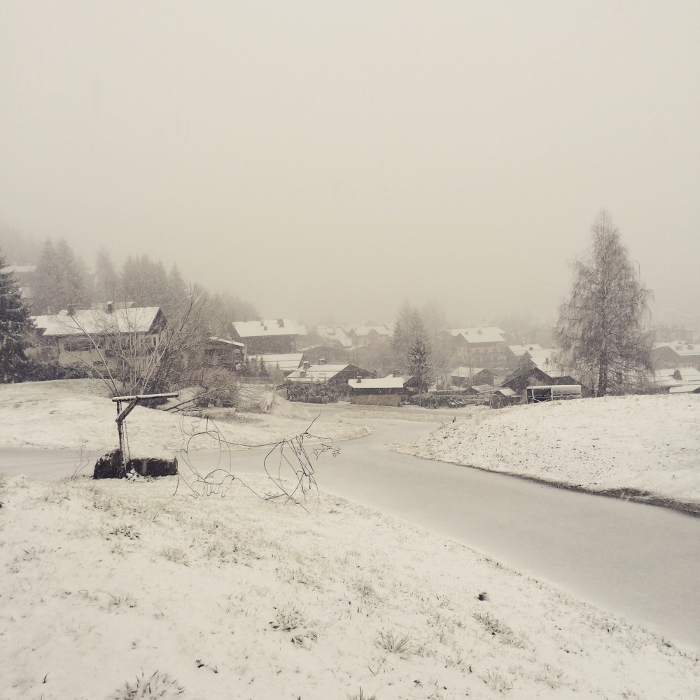 Megève sous la neige