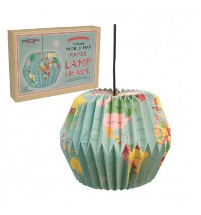 suspension-origami-carte-du-monde-vintage