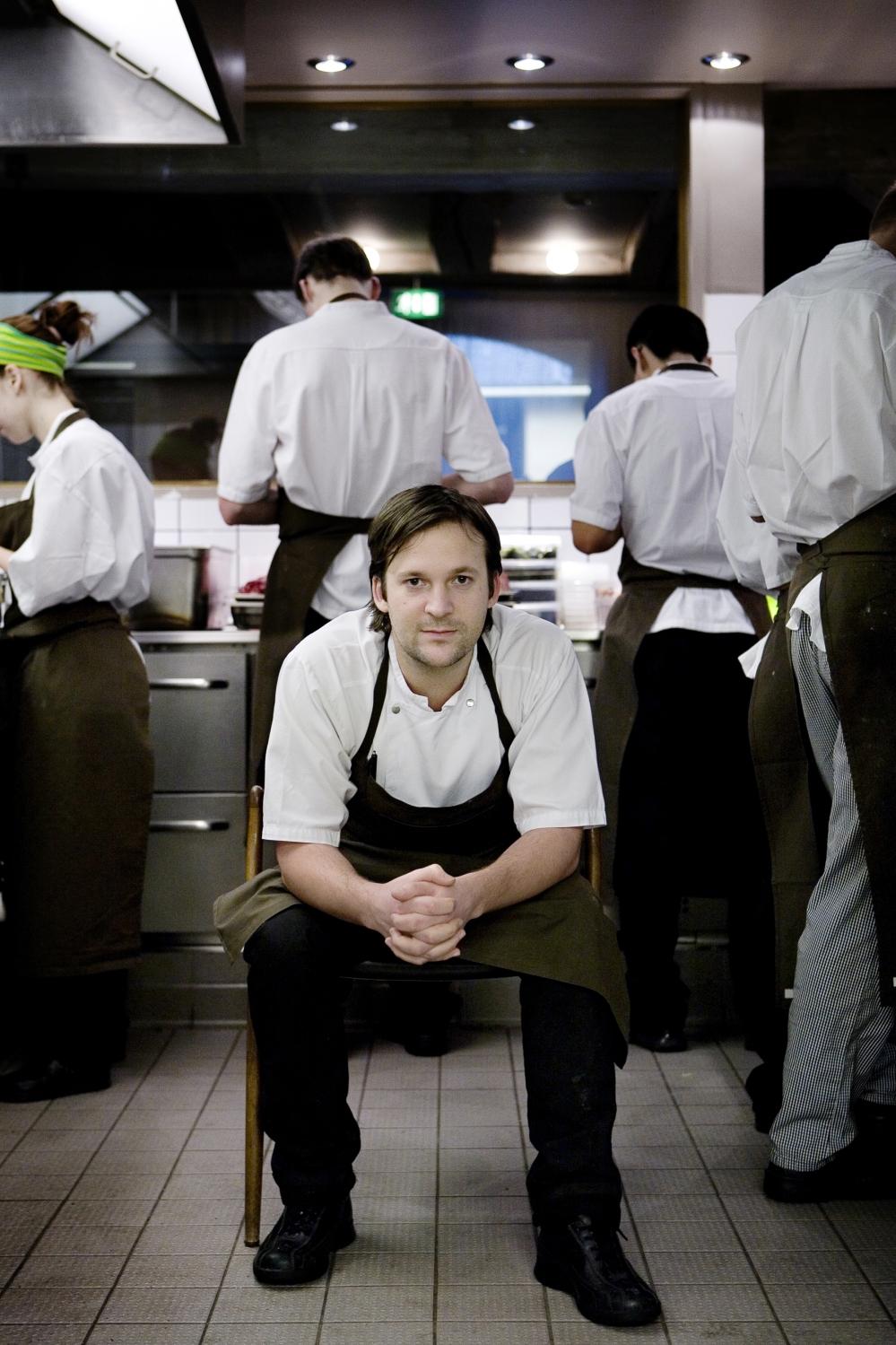 René Redzepi, kok på restauranten NOMA.René Redzepi, kok på restauranten NOMA.