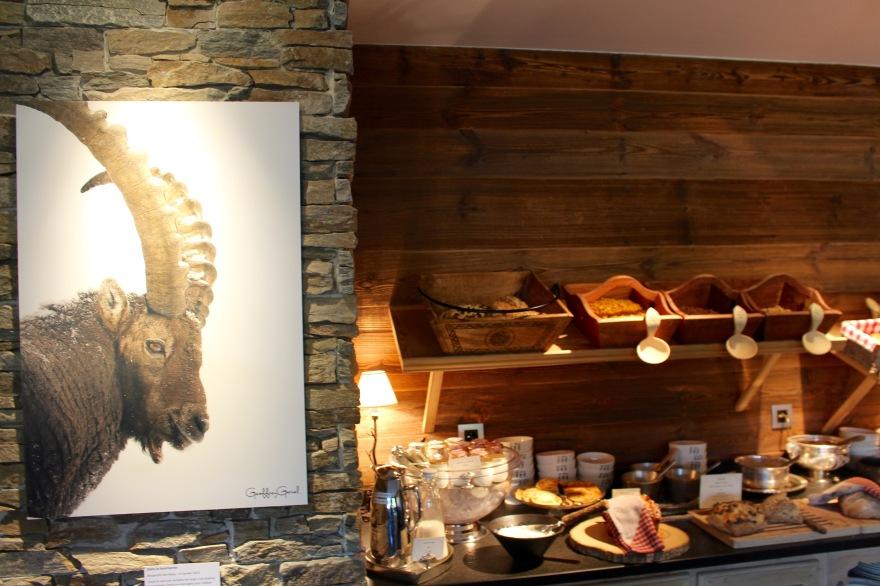 Petit déjeuner à l'hôtel Hermitage Chamonix