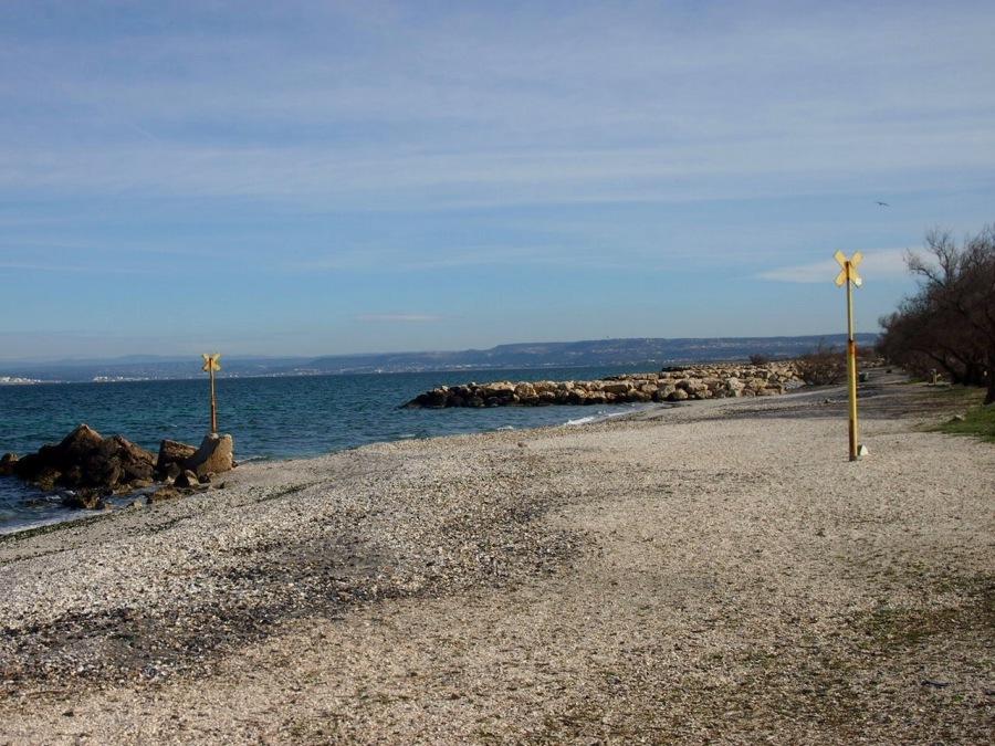 La plage du Jaï à l'étang deBerre